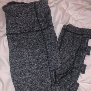 Zella cropped leggings with side cutouts